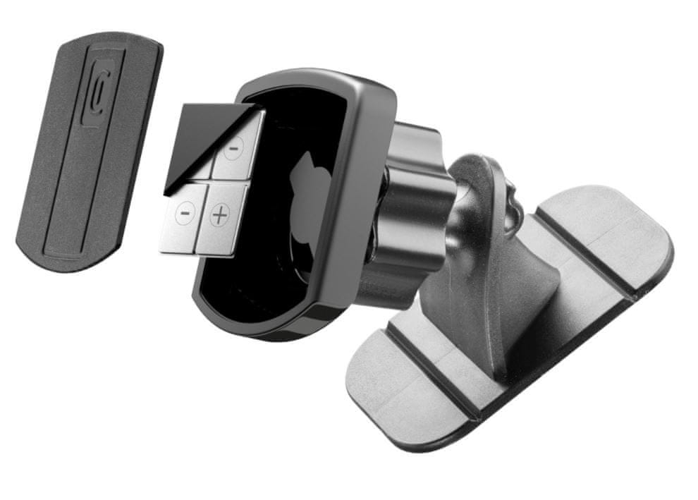 CellularLine Magnetický nalepovací držák MAG4 Touch Fix XL, černý MAG4ADHESIVEBALLK