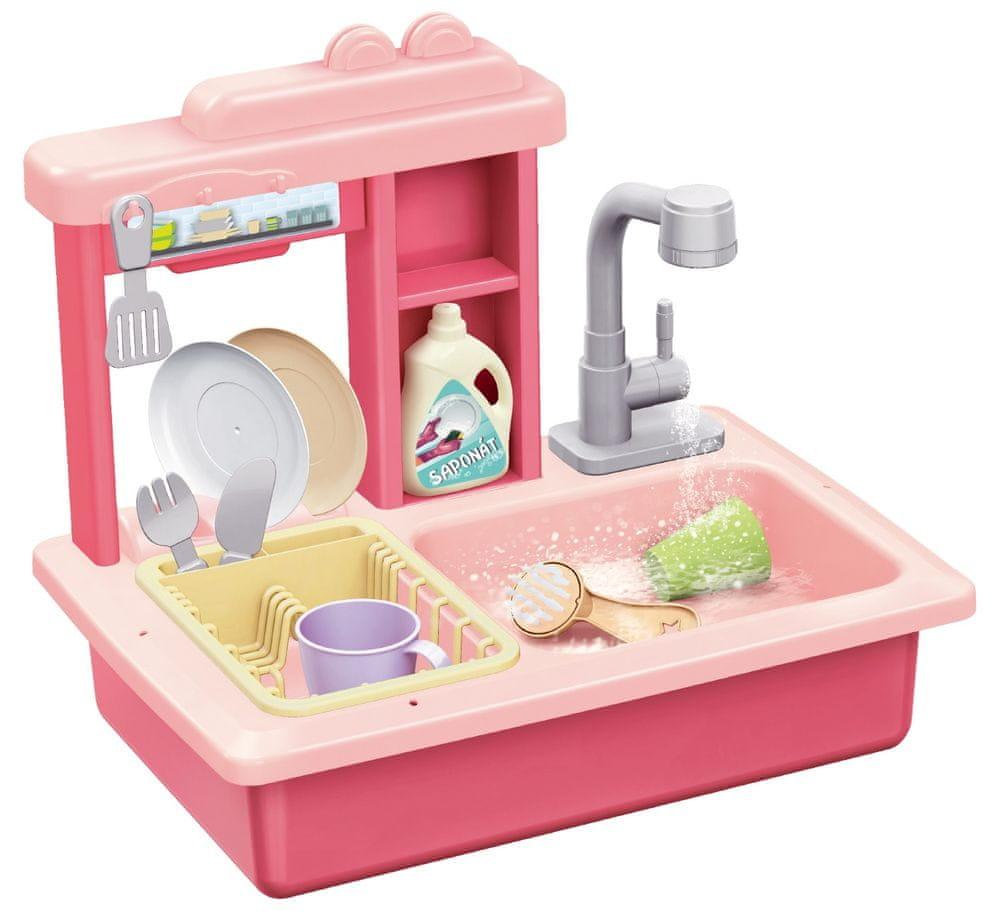 Teddies Dřez na mytí nádobí růžový
