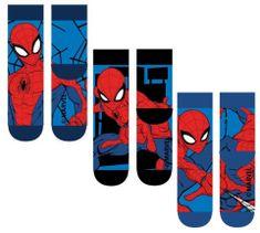 """SETINO Wysokie skarpety chłopięce """"Spiderman"""" - pakowane po 3 sztuki - 23–26"""