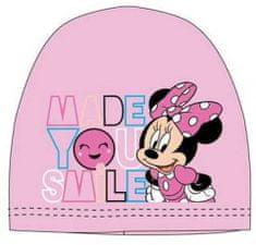 """SETINO Dekliška kapa bombažna """"Minnie Mouse"""" - svetlo roza - 54 cm"""