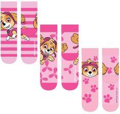 "SETINO Dievčenské vysoké ponožky ""Paw Patrol"" - 3 ks v balení ružová - 31–34"
