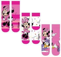 """SETINO Dievčenské vysoké ponožky """"Minnie Mouse"""" - 3ks v balení - 31–34"""