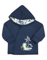 Nini chlapecký zavinovací kabátek z organické bavlny ABN-2576 56 tmavě modrá