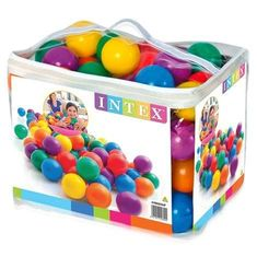 Intex Míčky hrací 8cm 100ks Intex 49600 mix barev