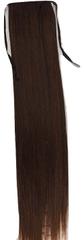 Vipbejba Sintetični čop na trak, raven, čokoladno rjav #4, 50cm/90g