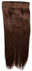 Vipbejba Sintetični nevidni/flip-on lasni podaljški, ravni, kostanjevo rjavi 30T33