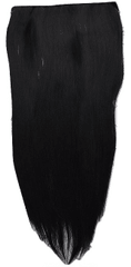 Vipbejba Sintetični nevidni/flip-on lasni podaljški, ravni, izredno črni F1