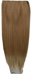 Vipbejba Sintetični nevidni/flip-on lasni podaljški, ravni, svetlo blond z rjavimi prameni F16