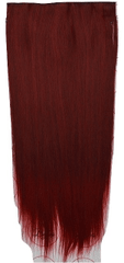 Vipbejba Sintetični nevidni/flip-on lasni podaljški, ravni, vinsko rdeči F38