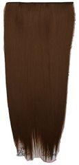 Vipbejba Sintetični nevidni/flip-on lasni podaljški, ravni, svetlo rjavi F6