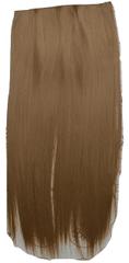 Vipbejba Sintetični nevidni/flip-on lasni podaljški, ravni, karamela F8