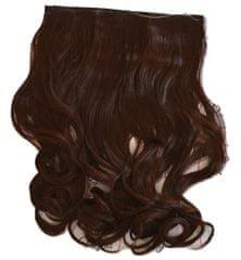 Vipbejba Sintetični nevidni/flip-on lasni podaljški, skodrani, čokoladno rjavi #4/F3