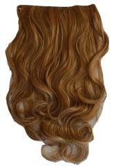 Vipbejba Sintetični nevidni/flip-on lasni podaljški, skodrani, temno pramenasto blond F39