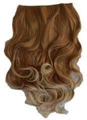 Vipbejba Sintetični nevidni/flip-on lasni podaljški, skodrani, svetlo blond z rjavimi prameni F16