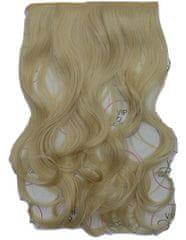 Vipbejba Sintetični nevidni/flip-on lasni podaljški, skodrani, svetlo blond F18