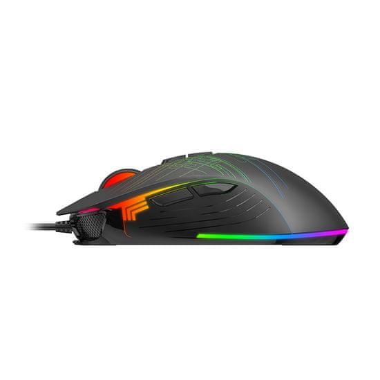 Havit MS1019 podsvícená herní myš, černá
