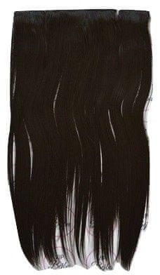 Vipbejba Sintetični clip-on lasni podaljški na 3 zavese, ravni, temno rjavi F5