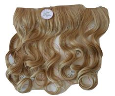 Vipbejba Syntetické clip-in vlasy na 3 pásech, kudrnaté, světlé blond prameny F15