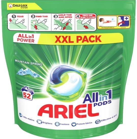Ariel All-in-1 PODs Mountain Spring mosókapszula, 52 mosásra