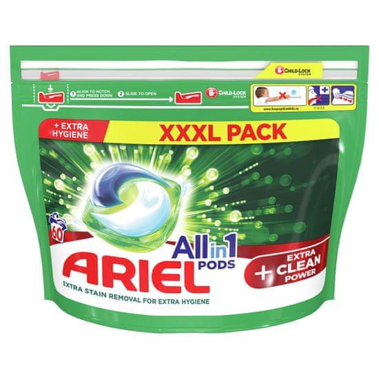 Ariel All-In-1 PODs + Extra Clean Power Kapsule Na Pranie, 60 Praní