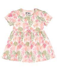 Nini dievčenské šaty z organickej bavlny ABN-2443 74 ružová
