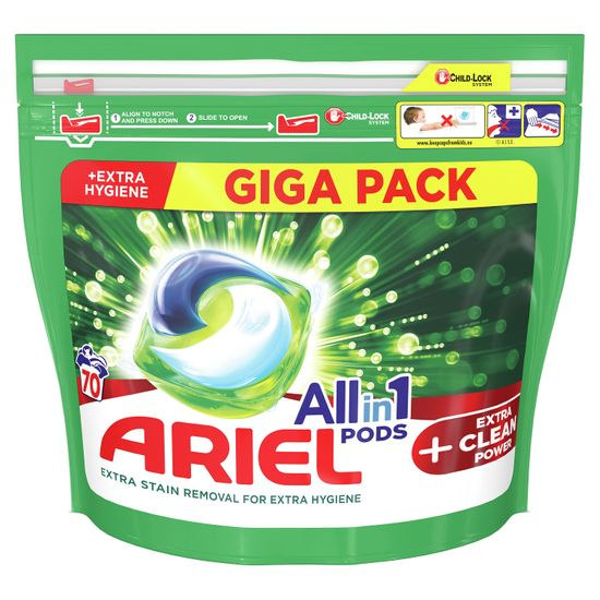 Ariel All-In-1 PODs +Extra Clean Power mosókapszula, 70 mosásra