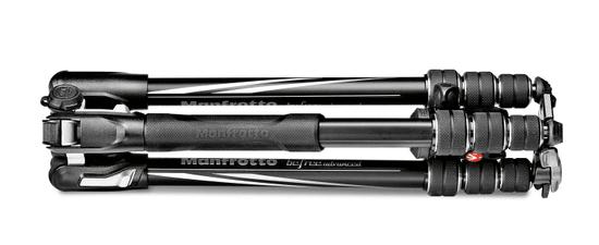 Manfrotto Aluminijasto potovalno stojalo Befree ADVANCED-TWIST LOCK - (MKBFRTA4BK-BH) + GRATIS nosilec za telefon MCPIXI
