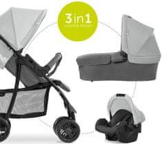 Hauck wózek dziecięcy Shopper Trioset grey