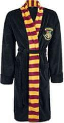 CurePink Pánský župan Harry Potter: Čaroděj z Bradavic - Hogwarts (univerzální) černý