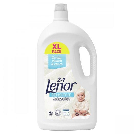 Lenor Sensitive folyékony mosószer 67 mosás, 3,685 l