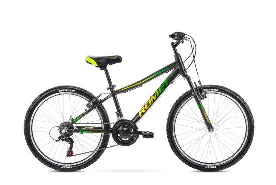 Romet Rambler 24 (2021) otroško kolo, črno-zeleno