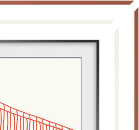 """Samsung wymienna rama do Frame TV 55"""", fazowana, biała 2021"""
