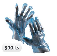 Cerva Jednorázové rukavice Duck blue (500 ks) 10/XL