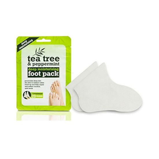 Xpel Hydratačný ponožky na nohy Tea Tree & Peppermint (Deep Moisturising Foot Pack) 1 pár