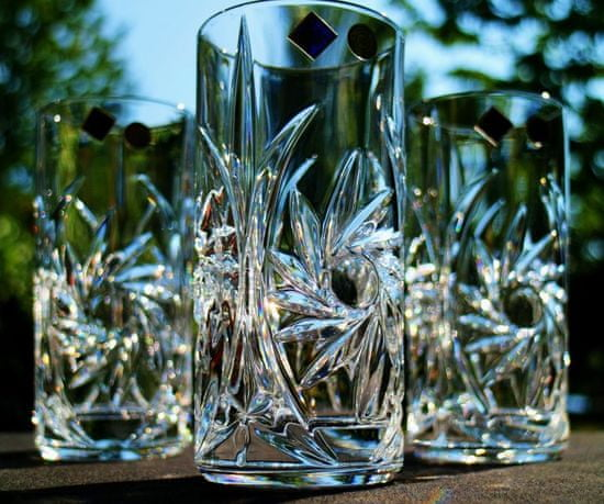 Bohemia Jihlava Bohemia Jihlava sklenice na vodu Pinwheel 370 ml 6KS