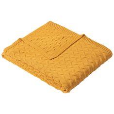 Ibena Knitted deka Somero 150x200 cm, oranžová
