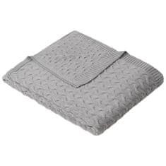 Ibena Knitted deka Somero 150x200 cm, šedá