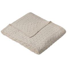 Ibena Knitted deka Somero 150x200 cm, béžová