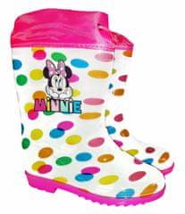 "Eplusm Dekliški škornji ""Minnie mouse"" - bela - 33/34"