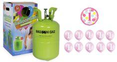Helium sada na 1.NAROZENINY MALÁ OSLAVA HOLČIČKA + 10 ks latexových balónků + 1 ks fóliový balónek