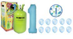 Helium sada 1.NAROZENINY VELKÁ OSLAVA KLUK + 10 ks latexových a 2 ks fóliových balónků