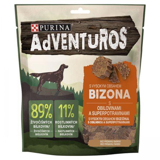 Adventuros ADVENTUROS s bizónom a brusnicovou šťavou 6 x 90 g