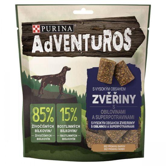 Adventuros ADVENTUROS so zverinou a brusnicovou šťavou 6 x 90 g