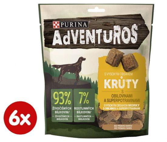 Purina Adventuros pasji priboljški, s puranjim mesom in brusnično omako, 6x 90 g