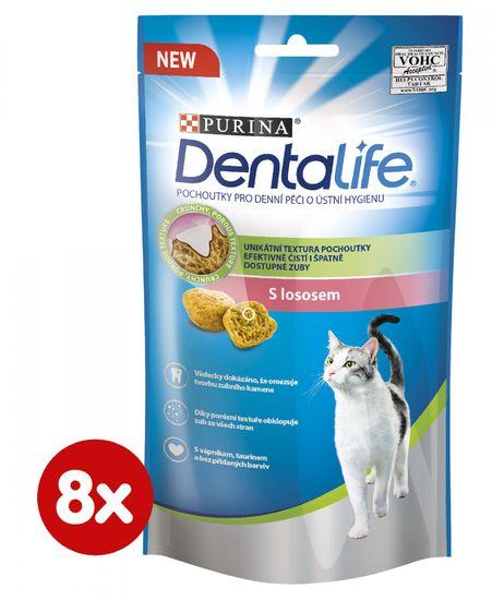 DentaLife Dentalife Cat s lososom 8 x 40 g