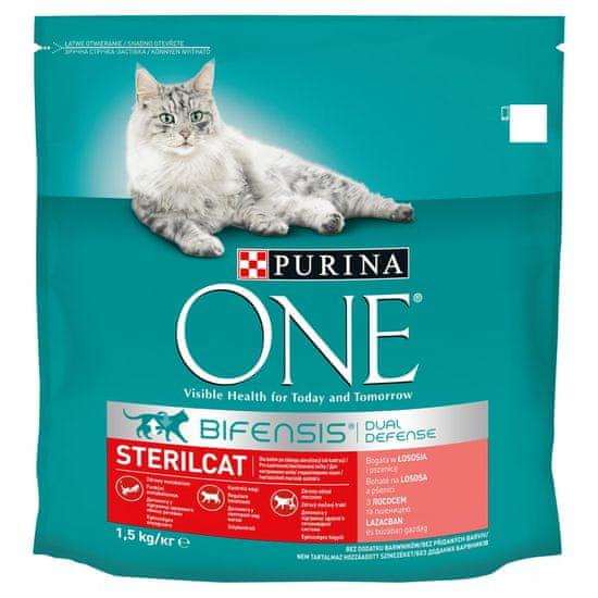 Purina ONE Bifensis Sterilcat s lososem a pšenicí 1,5 kg