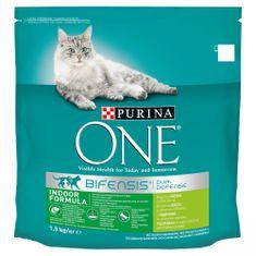 Purina ONE Bifensis Indoor s morčacím a celozrnnými obilninami 1,5 kg