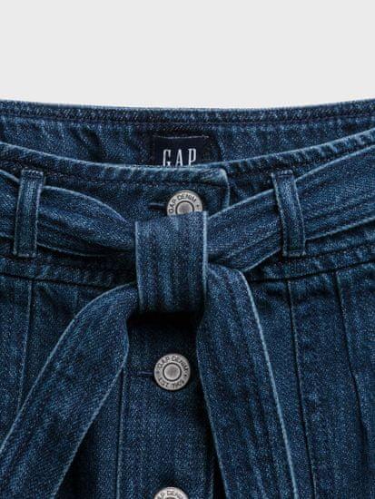 Gap Otroška Krilo denim tie med skirt