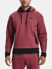 Under Armour Mikina Recover Fleece Hoodie-RED L