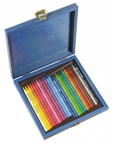 Koh-i-noor pastelky PROGRESSO 24 ks v dřevěné kazetě